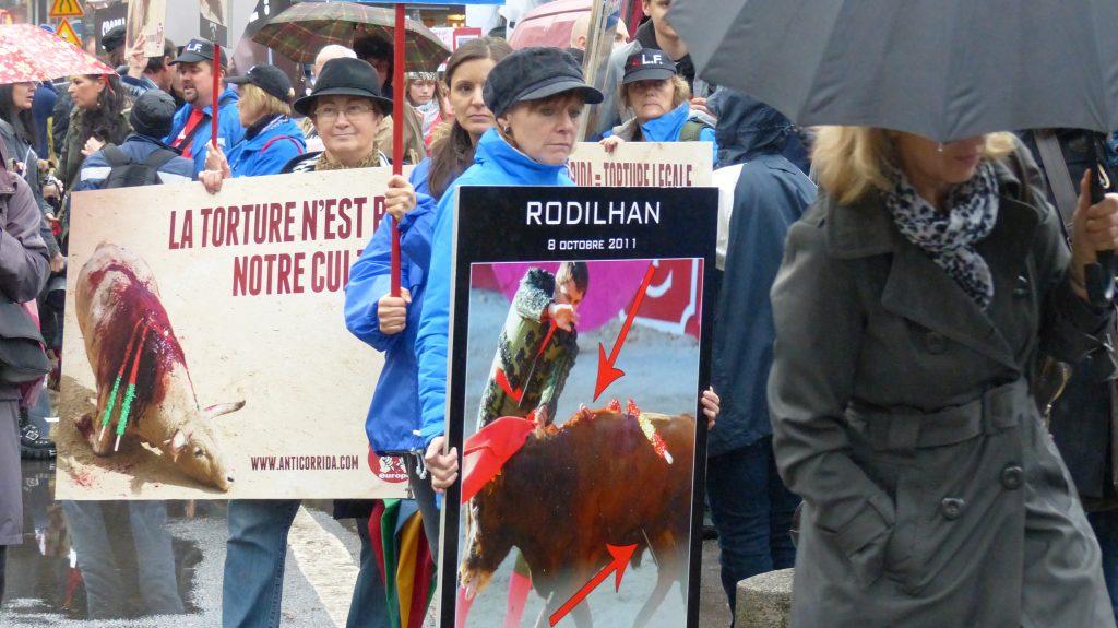 Rassemblement citoyen anti-corrida (Paris - 20 octobre 2012)