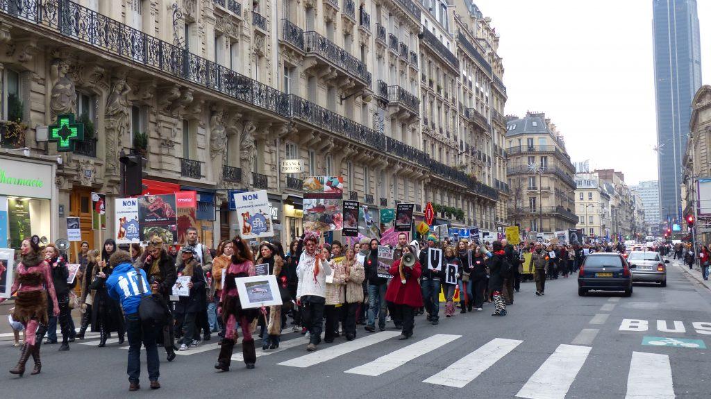 Marche contre la fourrure 2012 des hommes et des animaux - Marche saint michel paris ...