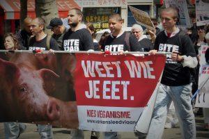 Marche pour la fermeture des abattoirs – Paris 2014