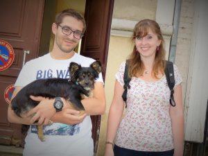 Camille et Julien, adoptants de Chance (3 août 2014)