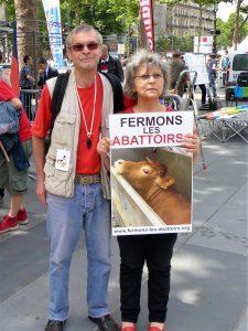 Christian et Danielle (Marche pour la Fermeture des Abattoirs-14 juin 2014)