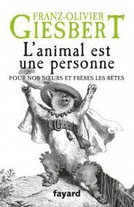 """Couverture du livre """"L'animal est une personne"""""""