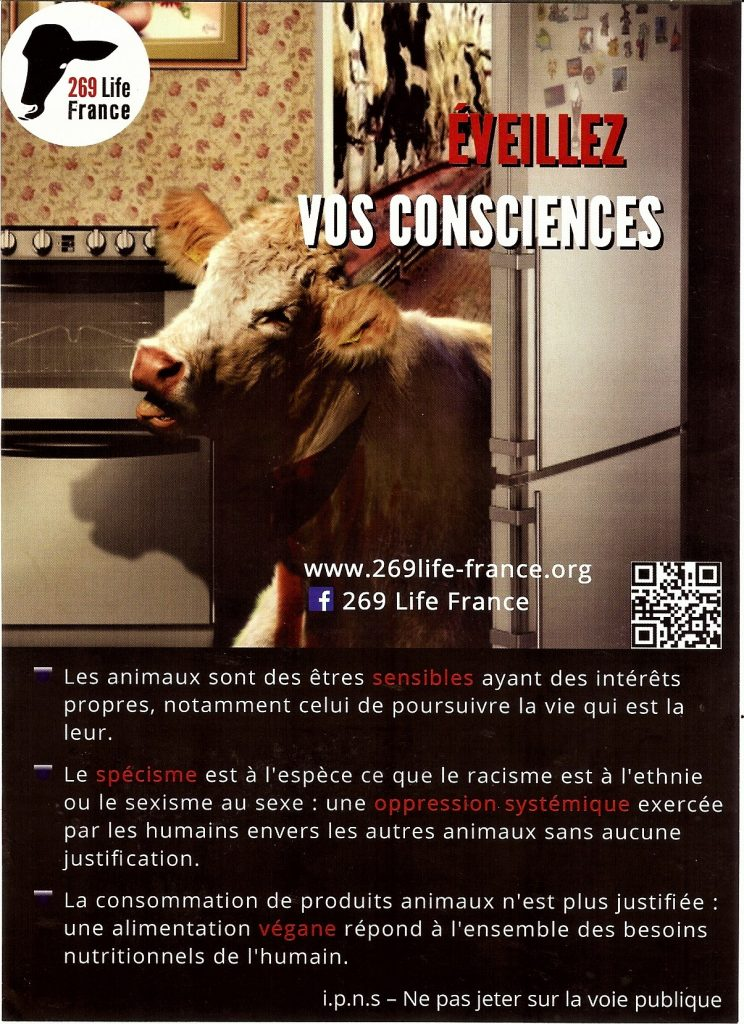 Recto du tract 269 Life France distribué à Paris au Salon de l'Agriculture 2017