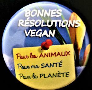 Badge IC - Bonnes résolutions vegan