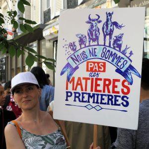 Marche pour la fermeture des abattoirs (Paris - juin 2017)